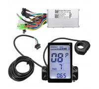 Электро набор 350W 36v с LCD дисплеем для велосипеда с АКБ 36v 10.4 ач, Pas, газ